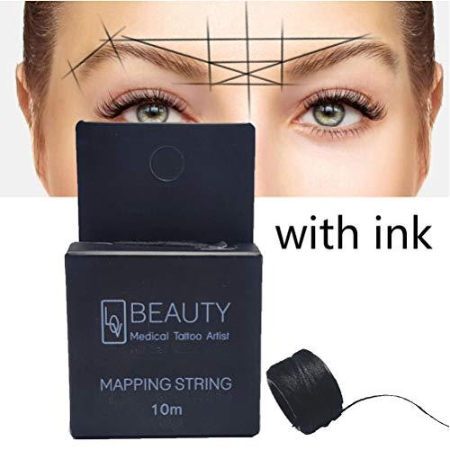 Borstu Eyebrow Line Marker Mapping String Eyebrow Measuring Tool für Die Zuordnung Präziser Linien 10 M