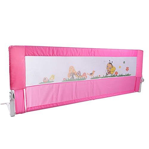 Barrera de seguridad para cama, barrera para cuna, rejilla para cama de bebé, 2 colores, 150/180 cm rosa Rosa Talla:150 cm x 64 cm