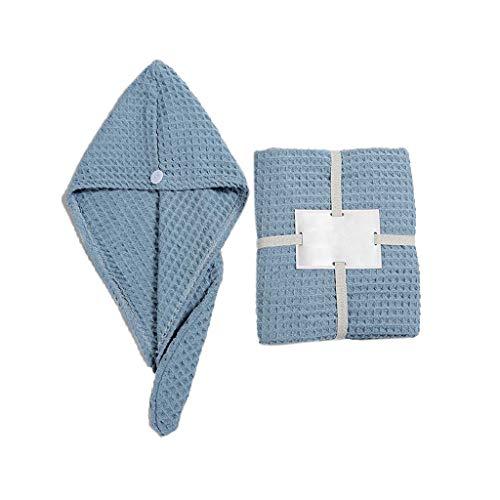 ZIRAN Toalla de baño Triángulo Gorro de Pelo seco Traje de Dos Piezas Gofre de algodón para Adultos Toalla de baño Suave-Algodón