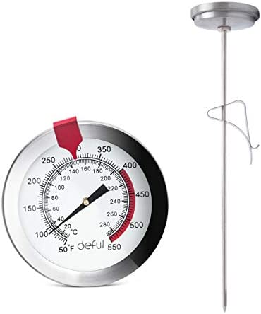 defull 12 Deep Fry Thermometer with Clip Instant Read Dial Thermometer 12 inch Stainless Steel product image