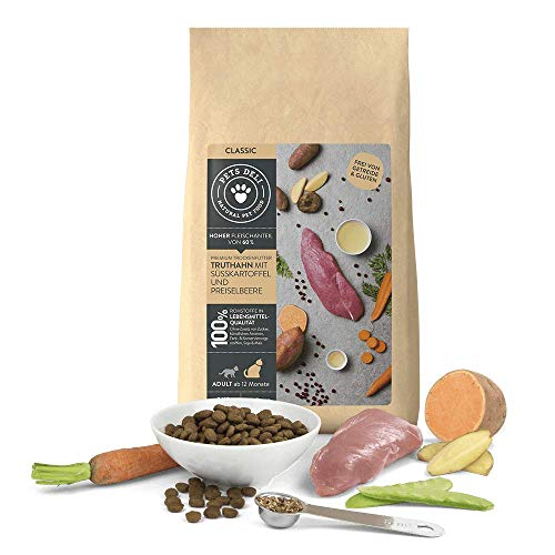 Katzenfutter trocken 400 g | Premium-Qualität | Truthahn mit Süßkartoffel und Preiselbeere | Trockenfutter für Katzen mit 61% Fleischanteil, getreidefrei und ohne unnötige Zusätze