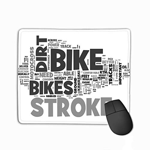 Mousepad Design Mouse Pad Rubber Oblong Muis Mat Wat Model Dirt Bike Moet U Kopen Word Cloud Tekst Concept Aquarel
