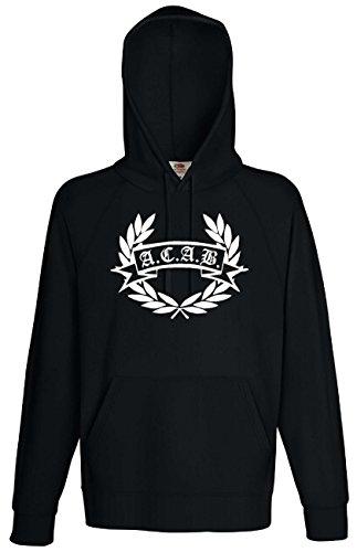 World-of-Shirt Unisex Kapuzensweat ACAB Hooligan Lorbeerkranz Hoodie|MKT4