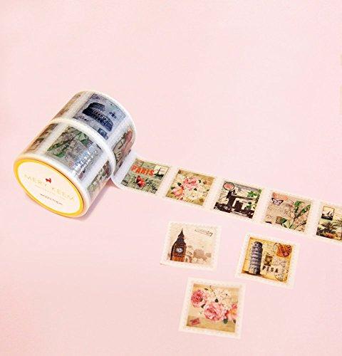 Estampillas Perforadas Washi Tape para Diarios y Planificadores • Scrapbooking • Artesanias • Oficina • Artículos de Fiesta • Envoltorios de Regalo • Ideal para Manualidades • Cinta Decorativas