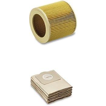 Kärcher 6.414-552.0 Filtro de cartucho para MV2, MV3 + Kärcher 6.959-130 - Bolsas para aspiradora: Amazon.es: Hogar