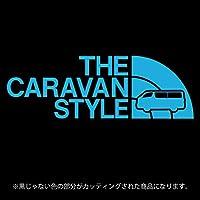 キャラバンNV350 ステッカー THE CARAVAN STYLE【カッティングシート】パロディ シール(12色から選べます) (スカイブルー)
