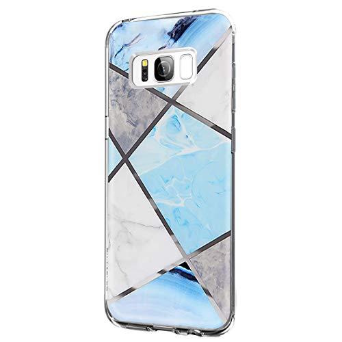 Kompatibel mit Samsung Galaxy S8 Hülle Transparent Mamor Muster Weiche Silikon Bumper Flexibel Silikon Schlank Bumper Case mit Samsung Galaxy S8 Schutzhülle
