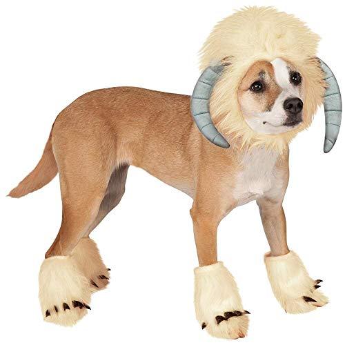 LQUIDE Haustier Elch Kostüme Kleidung für Hund Katze Haustier Perücke für Halloween Weihnachten Haustier Kleidung Zubehör Inklusive Fußabdeckung (Farbe, Größe: L)