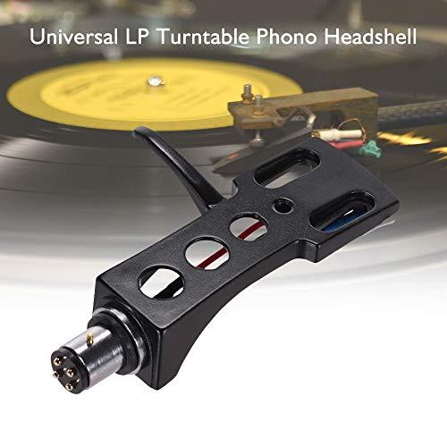 Universal LP-Plattenspieler Phono-Plattenspieler Headshell 4-polige Aluminiumlegierung mit OFC-Anschlussleitungen Vergoldete Anschlüsse für LP120-USB / LP240-USB / LP1240-USB/AT-LP5 Plattenspieler