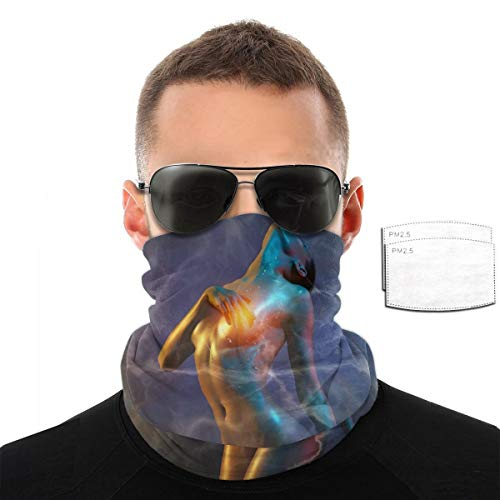 Unisex Scarf Bandanas Mask, Sexy Woman Neck Gaiter with Carbon Filters for Sports & Outdoors