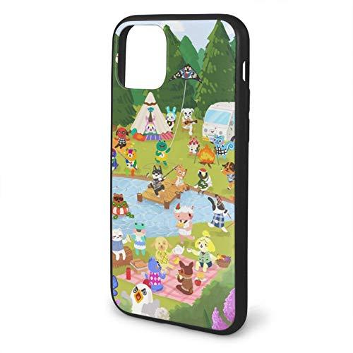 Yooan Animal Crossing Life Simulation Game Compatible con iPhone 12 Pro MAX 12 Mini 11 Pro MAX X/XS MAX XR SE 2020/8/7 6/6s Plus Astuccio Nero Telefono Astuccio