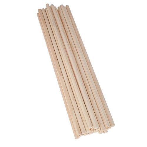 50 Holz-Rundstäbe 50 cm