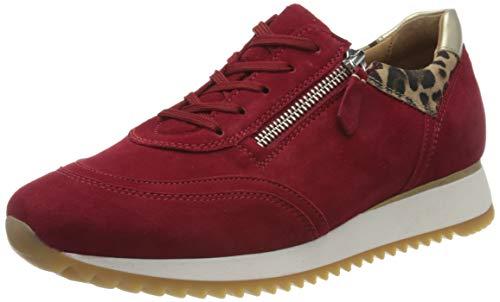 Gabor Damen Comfort Basic 46.335 Sneaker, Rot (Rubin/Natur/Pltino 48), 42 EU