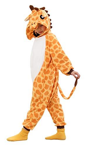Unisex Kids Onesie Giraffe Animal Pajamas One Piece Cosplay Costume Sleepwear Girls Boys Halloween Christmas Gift (6-8 Years, Giraffe)