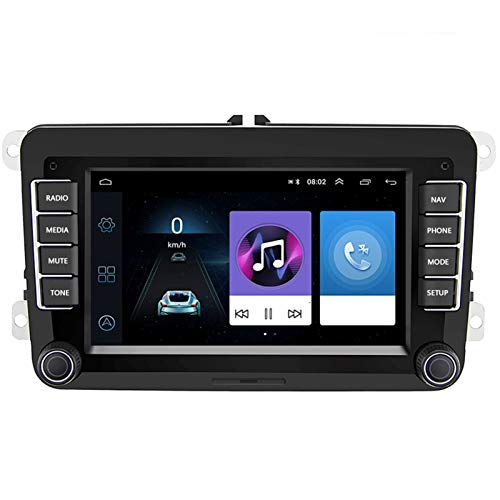 Flashing Coche Multimedia Player Android 8.1 para Golf/Polo/Passat / B7 / B6 / Asiento/Leon/Skoda 2din Car Autoradio Cámara de Radio (Size : with 8 IR Camera)
