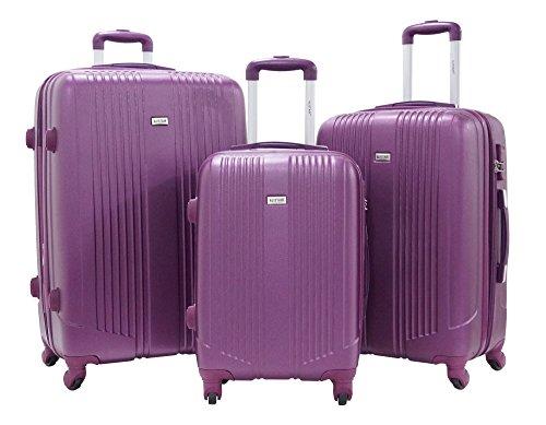 Set de Tres Maletas - Trole ALISTAIR AIRO - ABS extremista Ligero - 4 Ruedas - Violeta