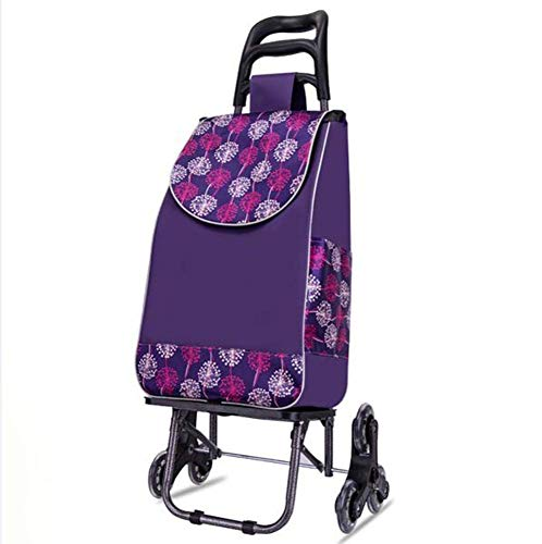 Pkfinrd - Carro de compra plegable con ruedas giratorias y bolsa impermeable extraíble, capacidad de 110 Ib (color: E)
