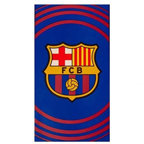 FC Barcelona Pulse - Toalla de Playa (100% algodón, 70 x 140 cm)