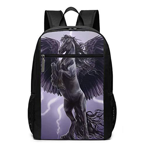 Pegasus Winged Horse Rugzak, modieus, voor computer, hoge kwaliteit, grote capaciteit, multifunctioneel, unisex 17 inch