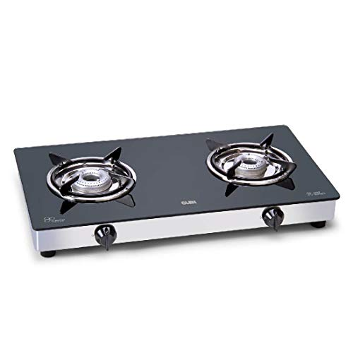 Glen 2 Burner Glass Gas Stove 1020 GT Alloy Burners