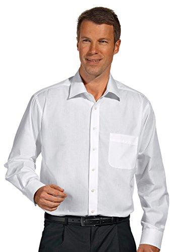 clinicfashion 12127006 Arzthemd Langarm weiß, Brusttasche, Mischgewebe Stretch, Größe 45/46