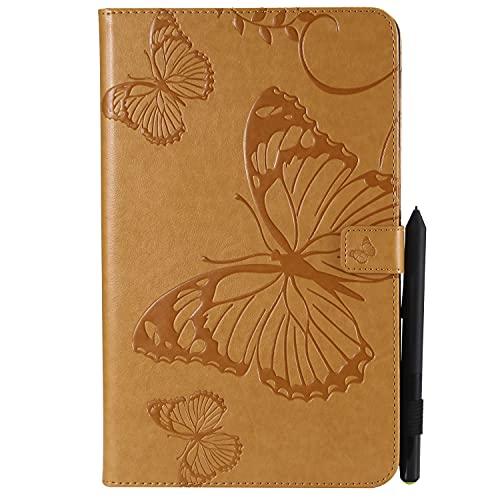 Tablet PC Bolsas Bandolera For una tableta de 10,1 pulgadas, patrón de mariposa en relieve liviano delgado PU Soporte de plato de cuero y cartas for Samsung Galaxy Tab A 10.1 pulgadas (SM-T580 / T585