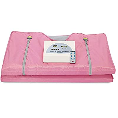 SKYTOU Sauna Blanket, 2 Zone Digital Far-Infrared (FIR) Oxford Heat Therapy Blanket for Weight Loss Body Shape Slimming Fitness 110V
