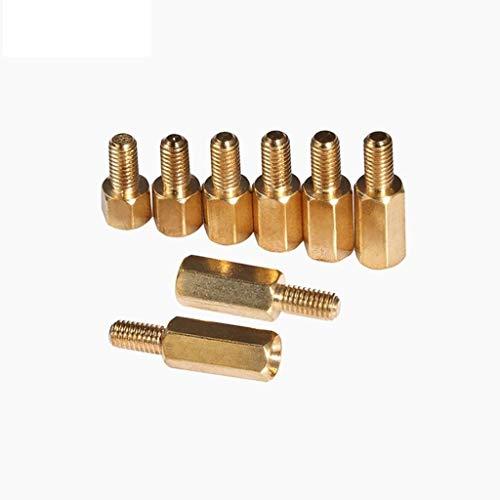 Tuercas Espaciadores Hexagonales 20pcs M3 Copper Standoff spacer perno prisionero macho a hembra M3 * 4 + 6 mm Hexagonal la longitud del vástago 4/5/6/7/8/9/10/11 / 12MM Conexión ( Color : L 11mm )