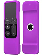 Anti-Slip Silicone Protective Cover Case with Wirst Strap for Apple TV 4th Generation,