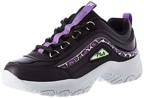 FILA Strada A kids Sneaker Unisex - Bambini, Nero (Black Leopard), 36 EU