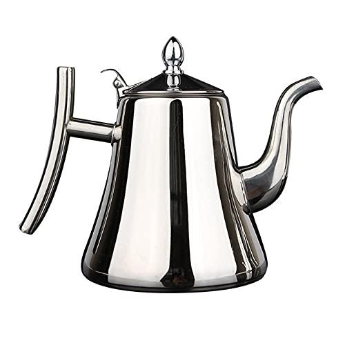 Cafetera Italiana,Cafetera Espressos En Acero Inoxidable,Cafetera Italiana Espresso Por Inducción,Cafetera Moka Italiana Para Cocinas Inducción,Vitrocerámica Y De Gas (Silver)