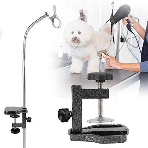 HEEPDD Abrazadera de Brazos de Mesa para Mascotas, Secador de Pelo de Aluminio para Perros y Gatos Pinza de Clip Ajustable Accesorios de Mesa de Aseo para Mascotas para Gatos Perros(2.0×2.0cm)