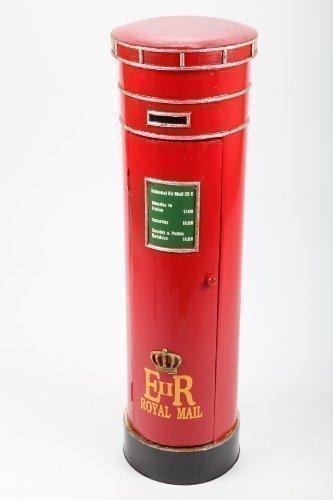 point home Design-Schrank Briefkasten, Regal aus Holz, Retro, rot, 90cm
