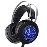 Gaming Headset for PS4,Wired Gaming Headset PC USB 3.5Mm Headsets with 50MM Driver,Beexcellent Comfort Noise Reduction Crystal Clarity LED with Mic for PC Laptop Tablet Smart Phone
