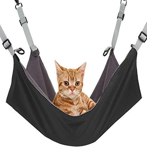 Wisdoman Cat Hanging Hammock Bed Comfortable Pet Cage Hammocks for Cats Ferret Small Dogs Rabbits...