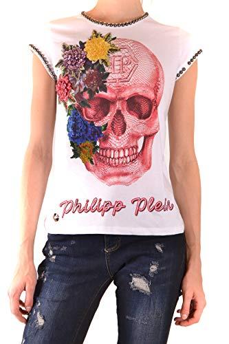 Philipp Plein Camiseta de mujer Let Me Dance de algodón blanco blanco S