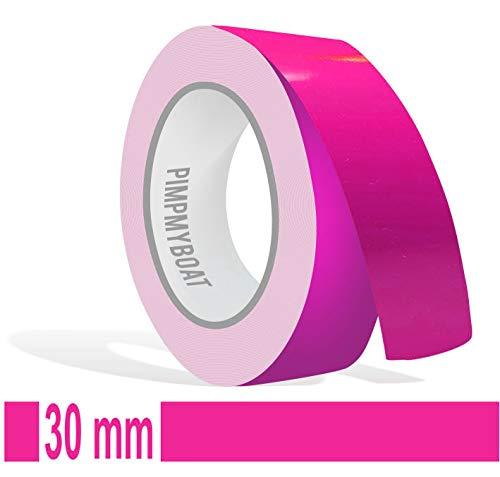 Siviwonder Zierstreifen pink in 30 mm Breite und 10 m Länge Folie Aufkleber für Auto Boot Jetski Modellbau Klebeband Dekorstreifen rosa