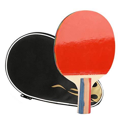 con Capa de Esponja Suave Tabla de Madera de Siete Capas Fácil de Transportar y almacenar Bate de Tenis de Mesa de Madera, Paleta de Tenis de Mesa, para Adultos y niños Juegos de Interior