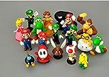 Lote de 18 unidades Super Mario Bros, Figuras de Acción de PVC Juguetes Yoshi, Peache, Princesa, Luigi, Odyssey, Donkey Kong, Dibujos Animados