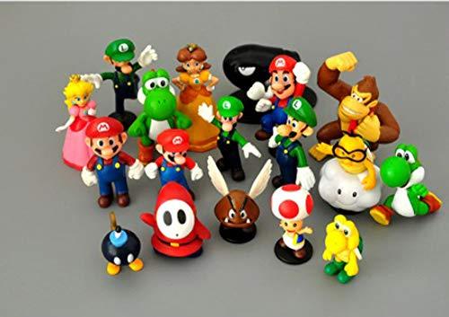 Lote de 18 unidades Super Mario Bros, Figuras de Acción de PVC...
