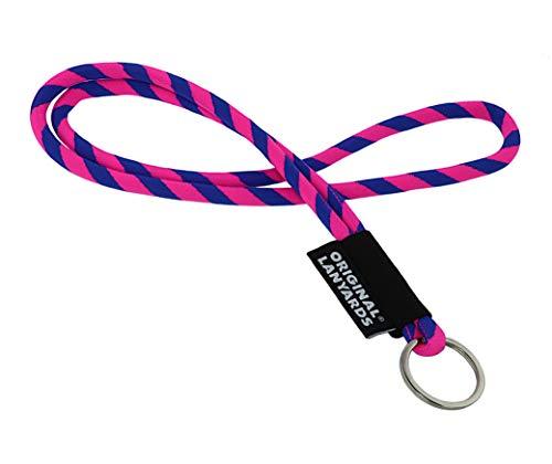 Originele Lanyards® Leis Short sleutelhanger, sleutelkoord, verkrijgbaar in 6 kleuren - (Made in Portugal)