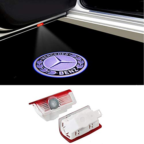DEFOV Türbeleuchtung Einstiegsleuchte,Autotür Licht 3D Logo (Benz E Sliver logo)