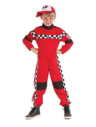Bristol Novelty - Disfraz de piloto de carreras (talla L), para nios de 7 a 9 aos