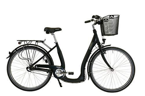 HAWK City Comfort Premium Plus (inkl. Korb) (schwarz, 28 Zoll)