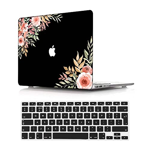 NEWCENT MacBook Pro 16' Case,Plastic Ultra Slim Light Hard Case UK Keyboard Cover for MacBook Pro 16 inch with Touch Bar/Touch ID 2019 Release(Model:A2141) Flowers 256