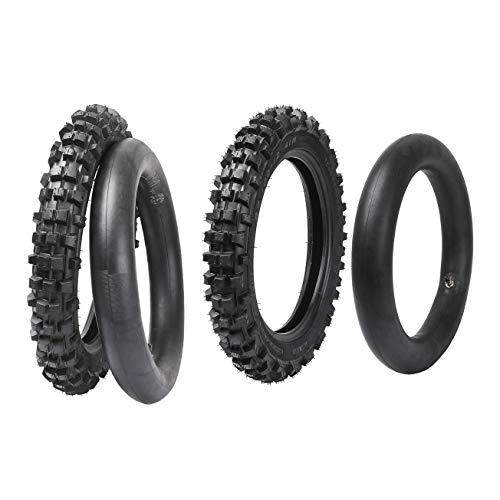 """ZXTDR Front & Rear Tire + Tube 2.50-14 14"""" & 3.00-12 12"""" Tyre + Innertube Set for Off Road Motorcycle"""