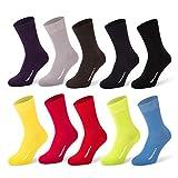 Tiger's Milk 10 Paar Herren Premium Socken Uni Farbig Bunt aus gekämmter Baumwolle ohne Naht Größe 43-46