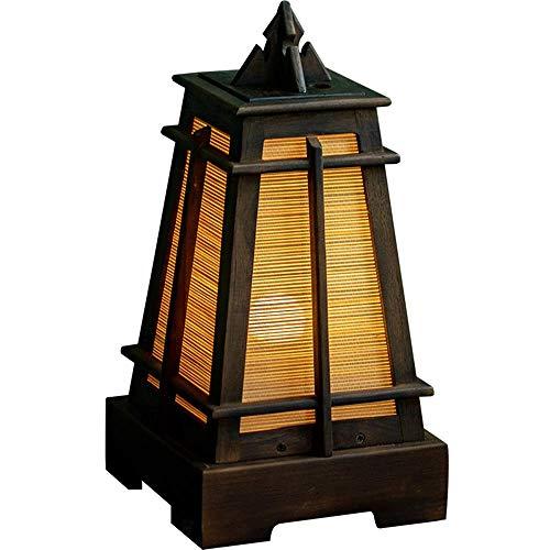 MJY Estilo Creativo Sudeste Asiático Vector de la Vendimia de la Lámpara de Madera Maciza de Bambú Tailandesa Lámpara de Escritorio Lámpara de Cabecera Del Dormitorio Del Restaurant