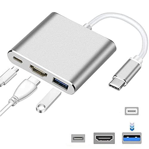 Adaptador HDMI para iPhone a TV,Conecta y reproduce Adaptador Cable HDMI AV Digital 1080P,Aadaptador Conector HDMI de Pantalla Sincronizada,2 en 1 Conector HDMI para iPhone a TV/Monitor/Proyector