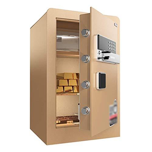 in-Wall Safe Deposit Box Home Safe Office Fingerprint Safe Anti-Theft Safe Wall-Mounted Safe (Size: 60 X 36 X 38cm) (Color : A)